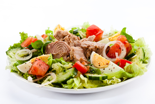 Ingredients ,  Garnish. Prepare Egg Tuna Salad, Weight loss salad, diet salad, Protein salad, keto salad.  Egg and cucumber salad, Benefits of salad. Canned tuna recipes